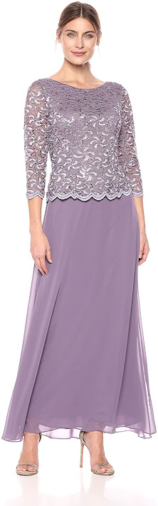 Lace Embroidered Mother of The Groom Dresses
