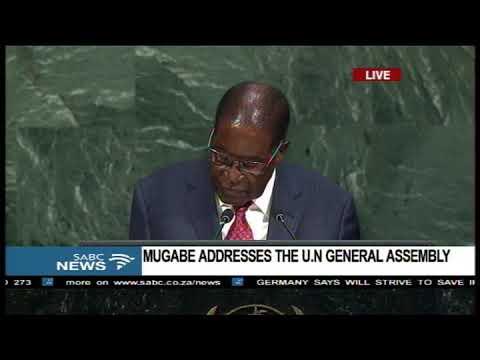 "Mugabe just call Trump a ""Goliath"""