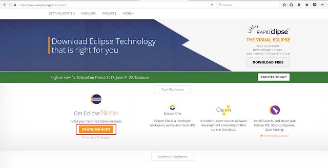 descargar eclipse para selenium webdriver