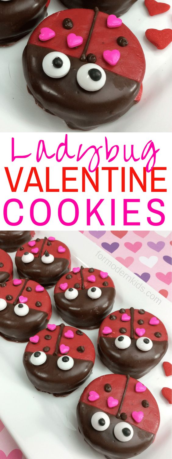 New Valentine's Day Ladybug Oreo Treats