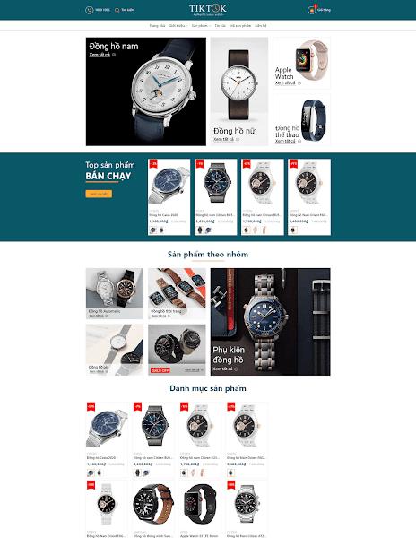 Template blogspot bán đồng hồ và tiếp thị liên kết