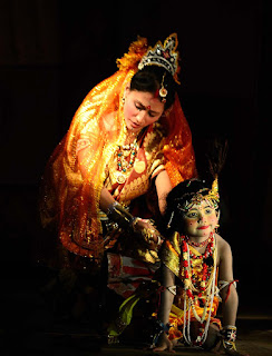 Photo of stage performance during Ras Lila in Majuli