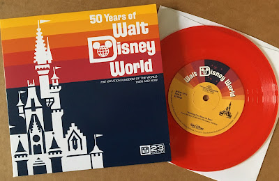 D23 Gold member 50 Years of Walt Disney World 45 rpm record