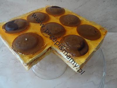 Ciasto Delicja z kremem