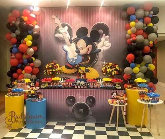 Mickey, Mickey Guitarrista, Musical, arte digital, painel, festa infantil, arte personalizada
