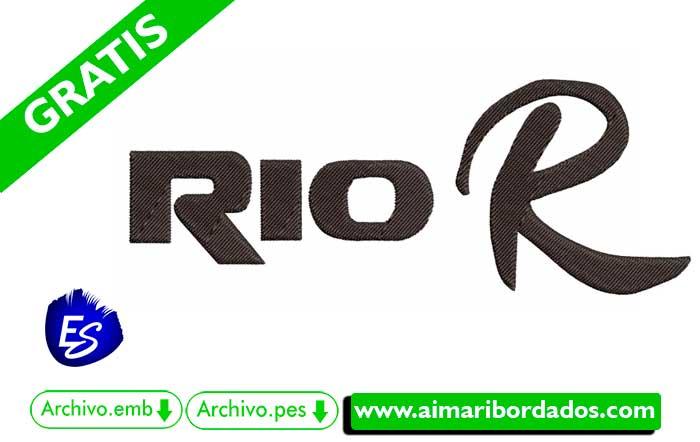 Logo Kia Rio R Para Bordar
