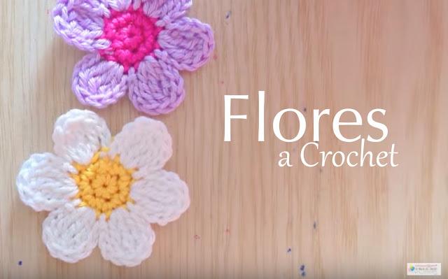 Flores a Crochet - Vídeo Paso a Paso