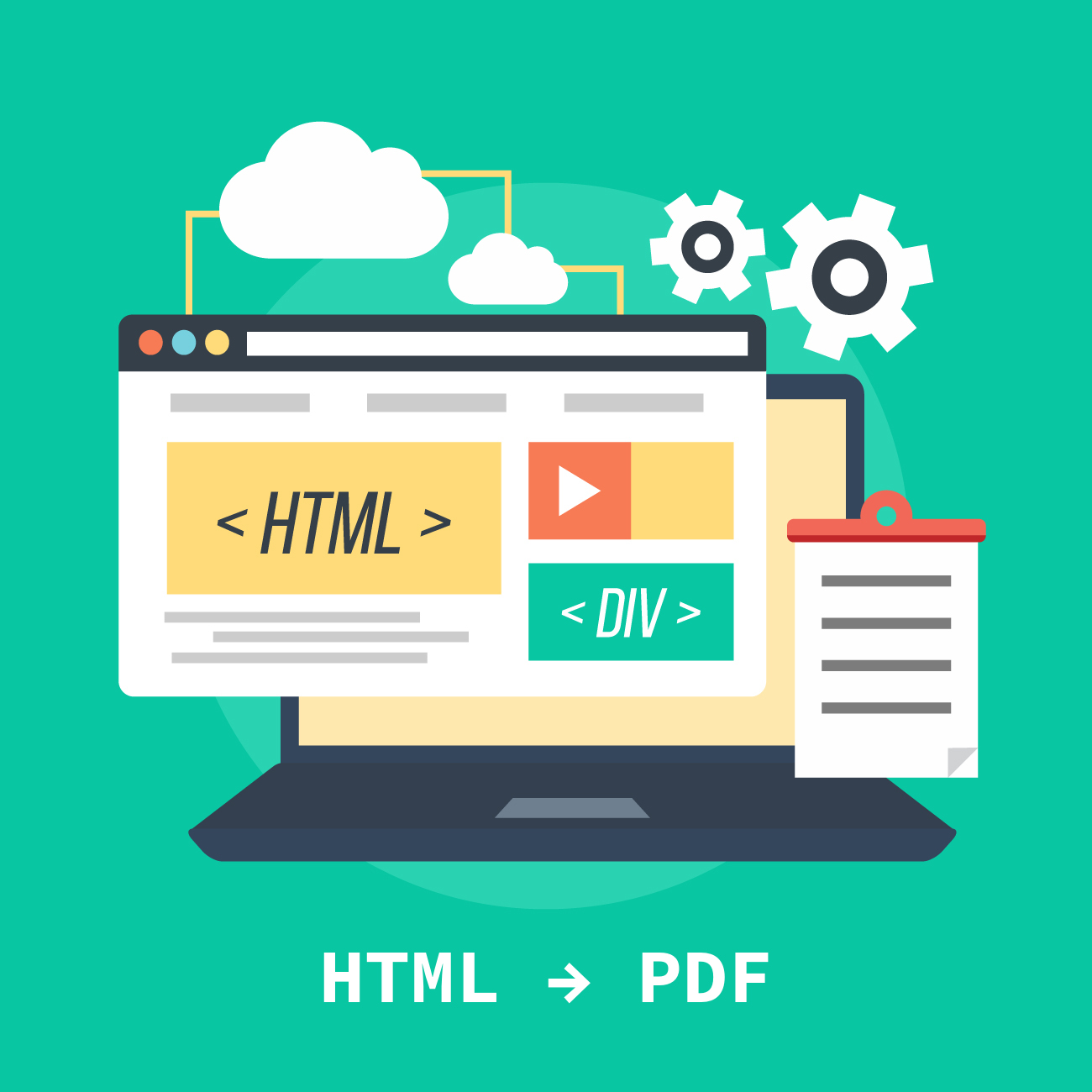 convert html file to pdf with wkhtmltopdf