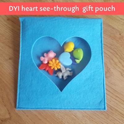DIY Heart See-Through Valentine Pouch.