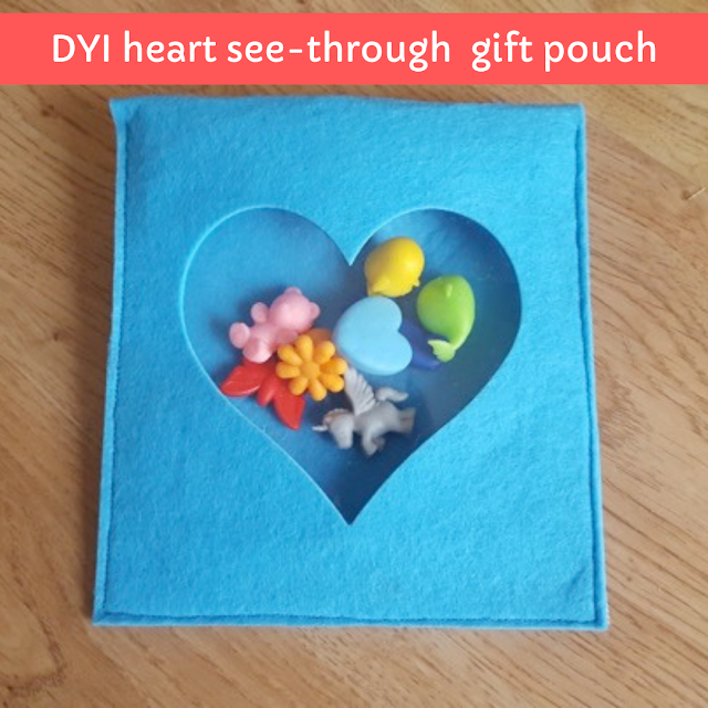 DIY Heart See-Through Valentine Pouch.