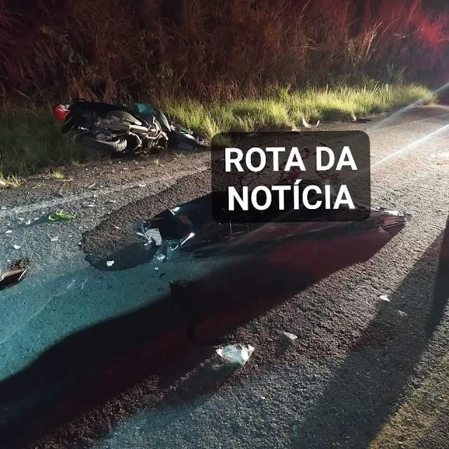 Acidente deixa vítima fatal entre Rua Nova e Bananeiras