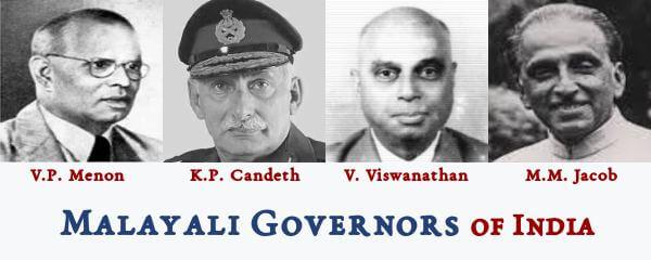 Malayali Governors of India