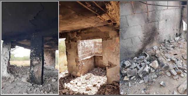 Así es un campo de exterminio de Los Zetas; paredes quemadas y destruidas en Tamaulipas