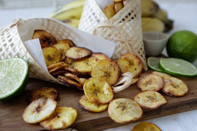 Lime & Black Pepper Baked Plantain Chips