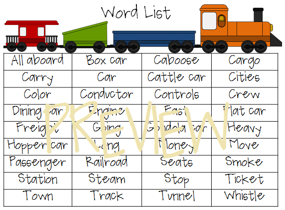 Freight Trains: A Preschool Unit of Basic Concepts and Language