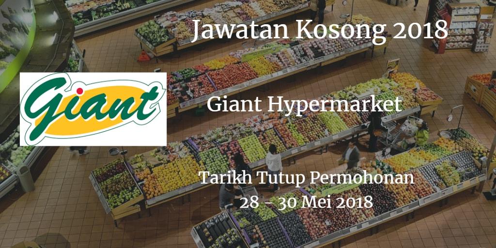 Jawatan Kosong Giant Hypermarket 28 - 30 Mei 2018