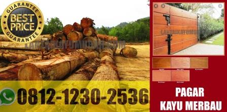 pagar kayu merbau, jual pagar kayu merbau, harga pagar kayu merbau