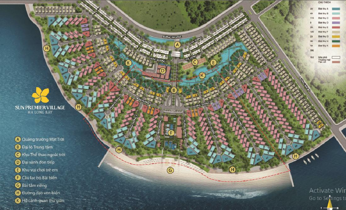 Mặt bằng dự án Sun Premier Village Ha Long Bay