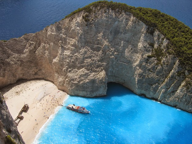 …breathtaking. (Navagio beach on the island of Zakynthos.) - 49 Reasons To Love Hellas (Greece)