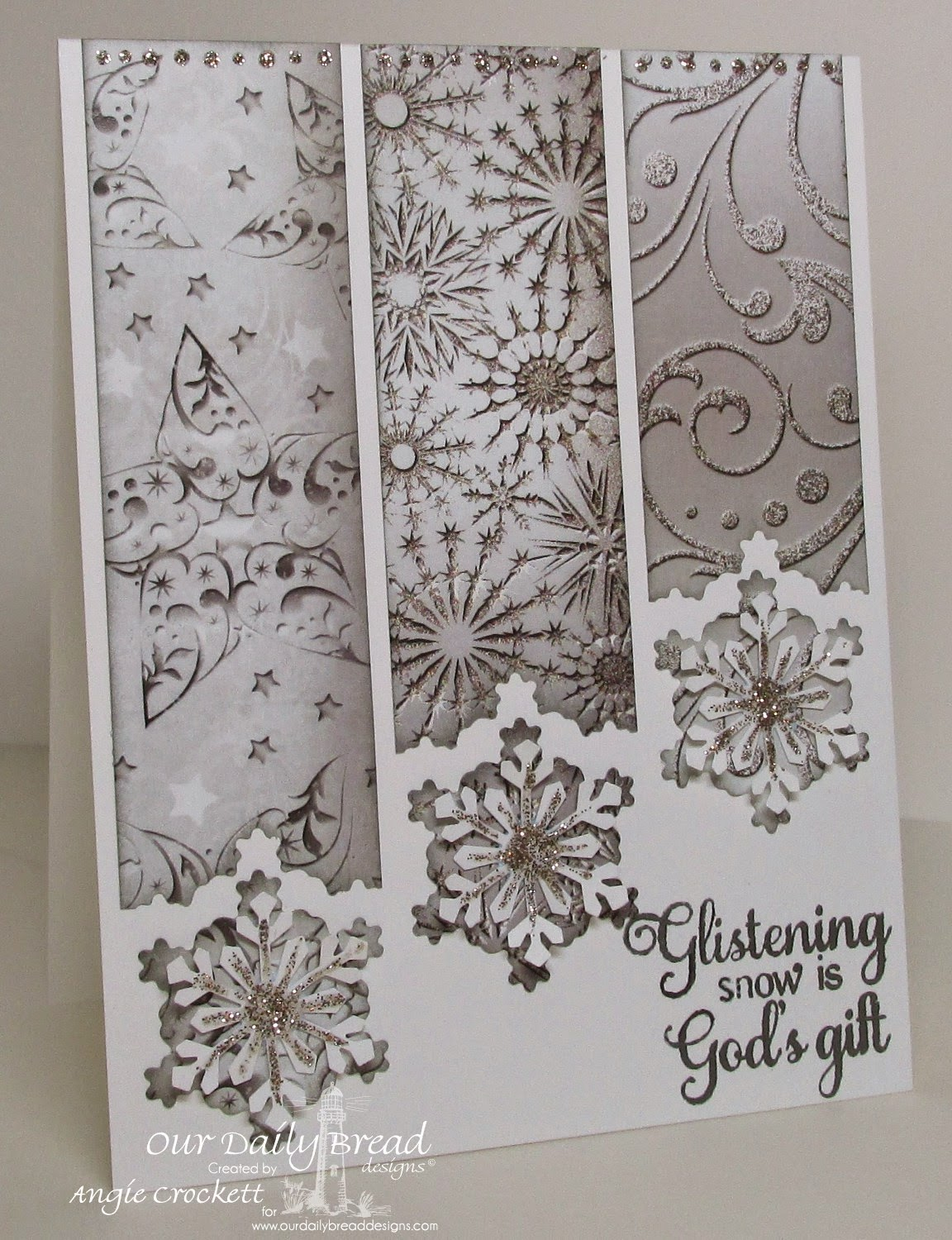 ODBD Winter Paper Collection 2014, ODBD Custom Snowflakes Dies, ODBD Snowflake Sentiments, Card Designer Angie Crockett