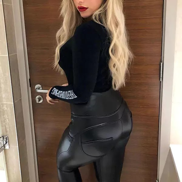 Best Paux Leather Mid Waist Fashion Leggings