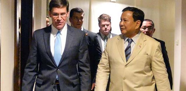 Mulai Dari Keamanan Kawasan Hingga Isu HAM Jadi Bahasan Pertemuan Prabowo Dan Menhan Esper Di Pentagon