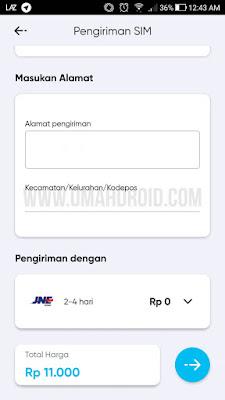 Metode Pengiriman Kartu By.U dengan JNE
