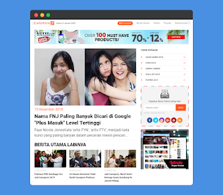 Liputan 9 Blogger Template Updated 2020 Free Download|