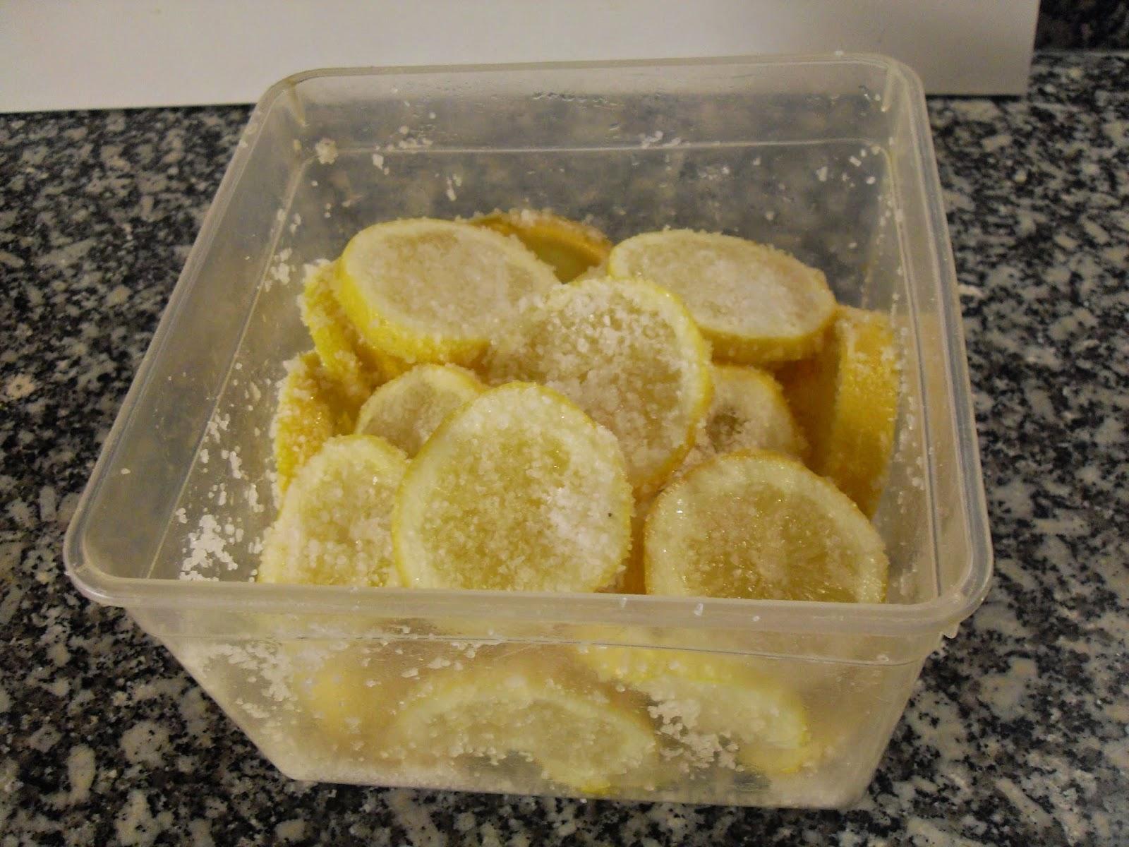 Reposado de los limones con sal.