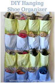 DIY Hanging Shoe Organizer