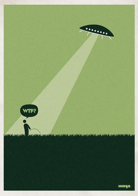Meme de humor sobre contacto alienígena