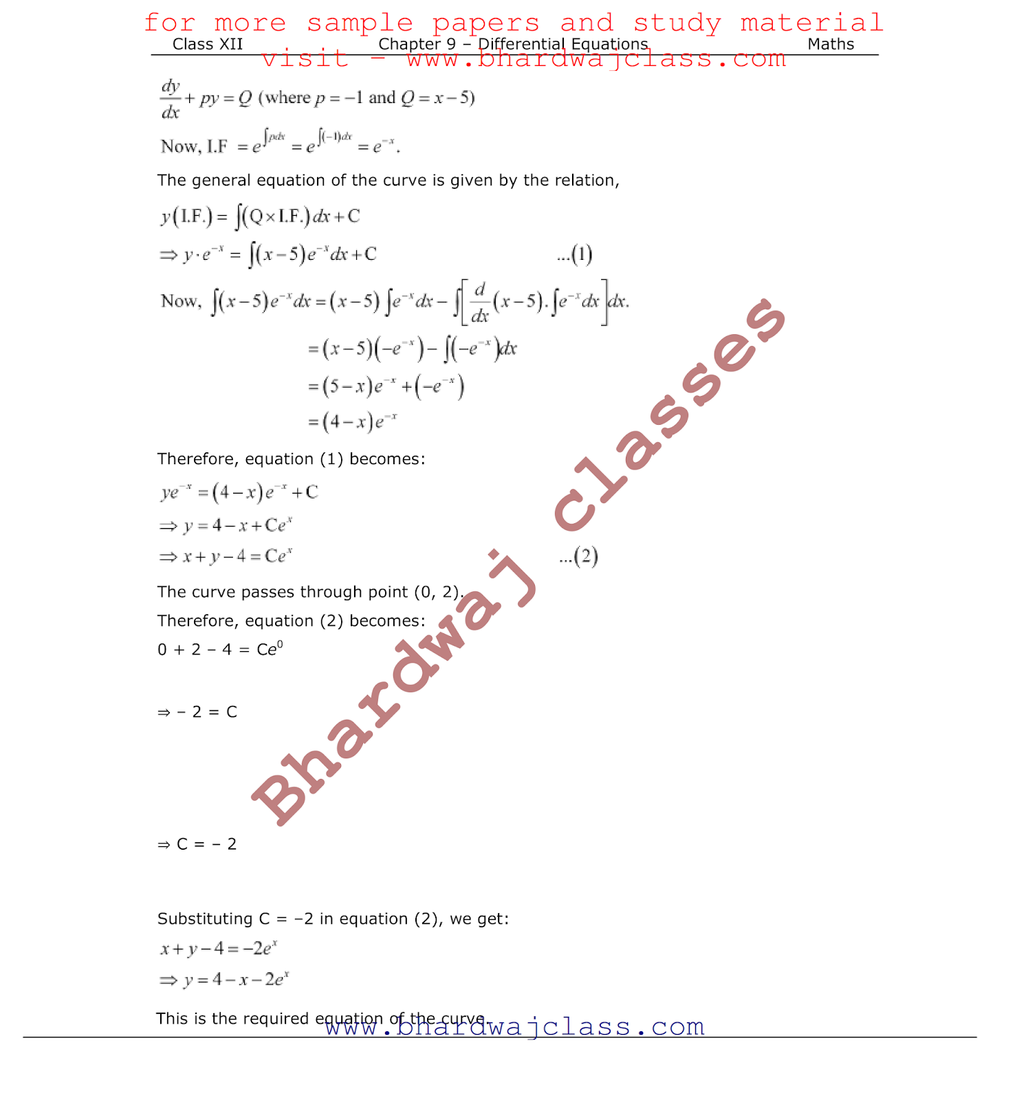 CBSE Class 12 Maths NCERT Solutions Chapter 9