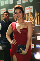 Natasha Nebasha in a Leg Slit Sleeveless Stunning Red Gown at IIFA Utsavam Awards 2017 058.JPG