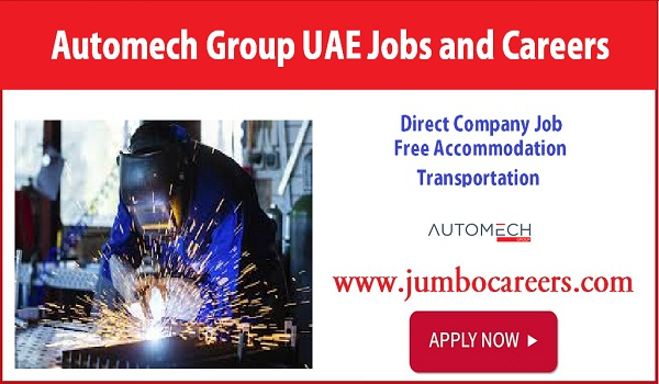 Technician job vacancies in UAE, Automech group jobs in Gulf countries,