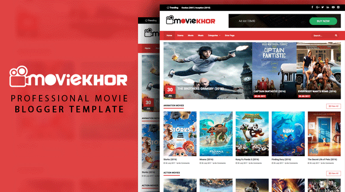 Moviekhor Blogger Template Free Download