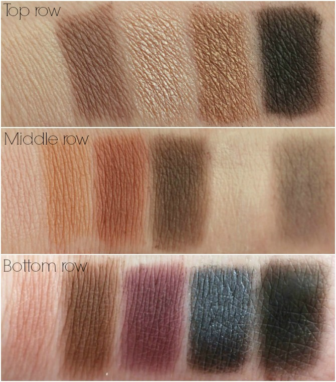 Makeup Revolution I heart makeup Velvet palette swatches