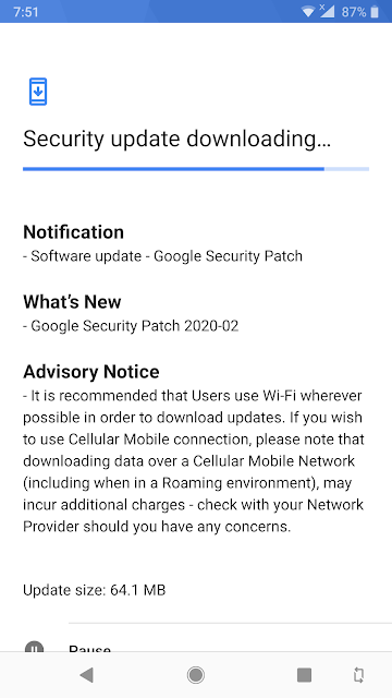 Nokia 8 Sirocco receiving February 2020 Android Security patch