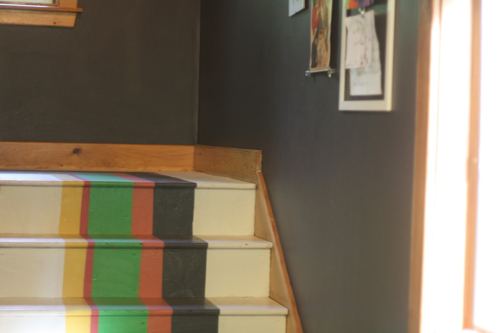 Dried Figs And Wooden Spools How To Paint Stripy Steps
