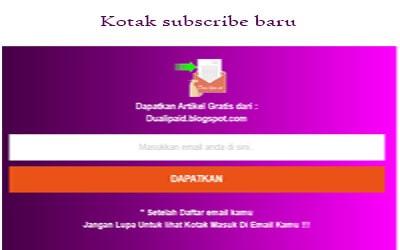 kotak subscribe baru