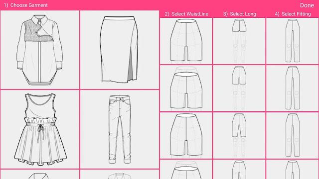 Daftar Aplikasi Desain Baju - Fashion Design Flat Sketch