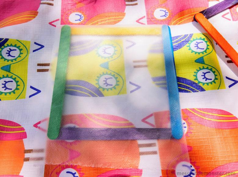 craft stick frame for suncatcher