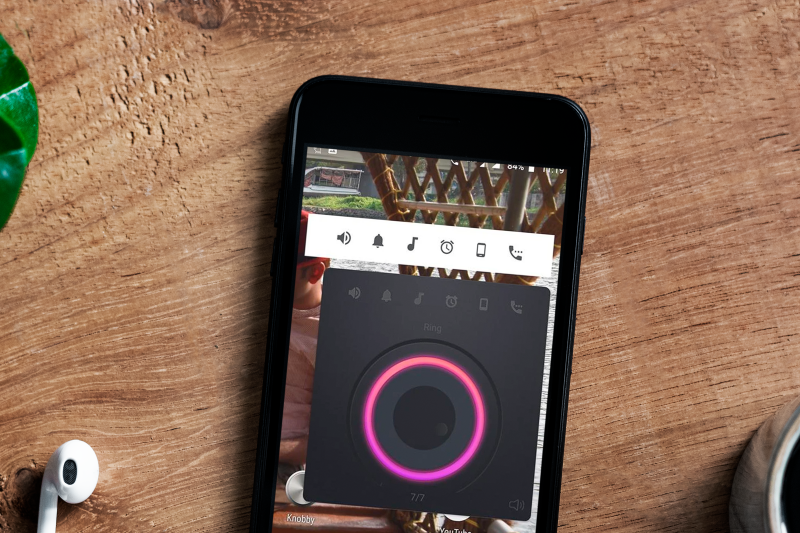 Control Volume by Gestures With Knobby.