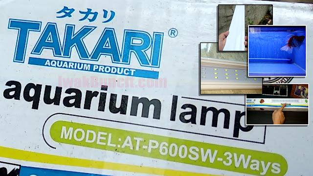 Cocok di Aquarium Berukuran 60 cm: Review Lampu LED Gantung TAKARI AT P600 20 Watt - Ikan Mas Koki & Aquascape