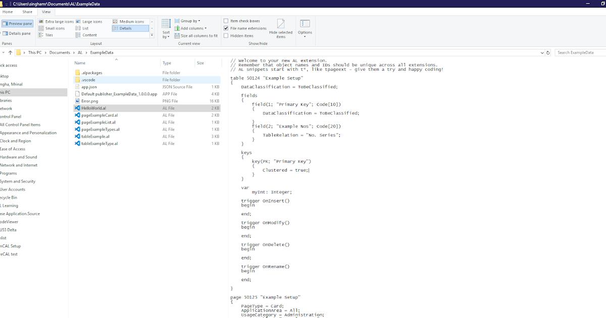 .al File Preview In Windows Explorer Preview Pane