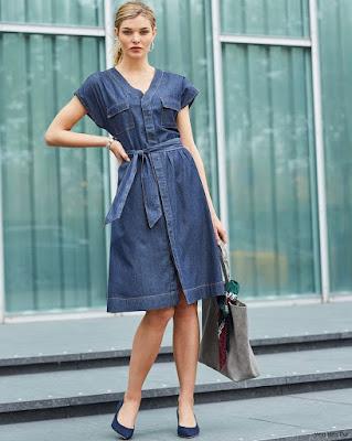 Vestidos Azules Cortos Casuales