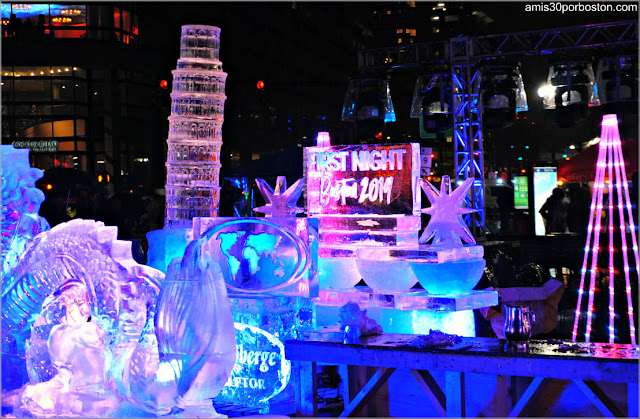 Esculturas de Hielo de la First Night de Boston: Copley Square