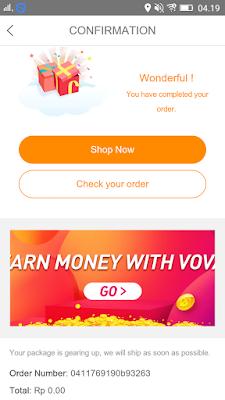cara belanja online gratis dari aplikasi vova android