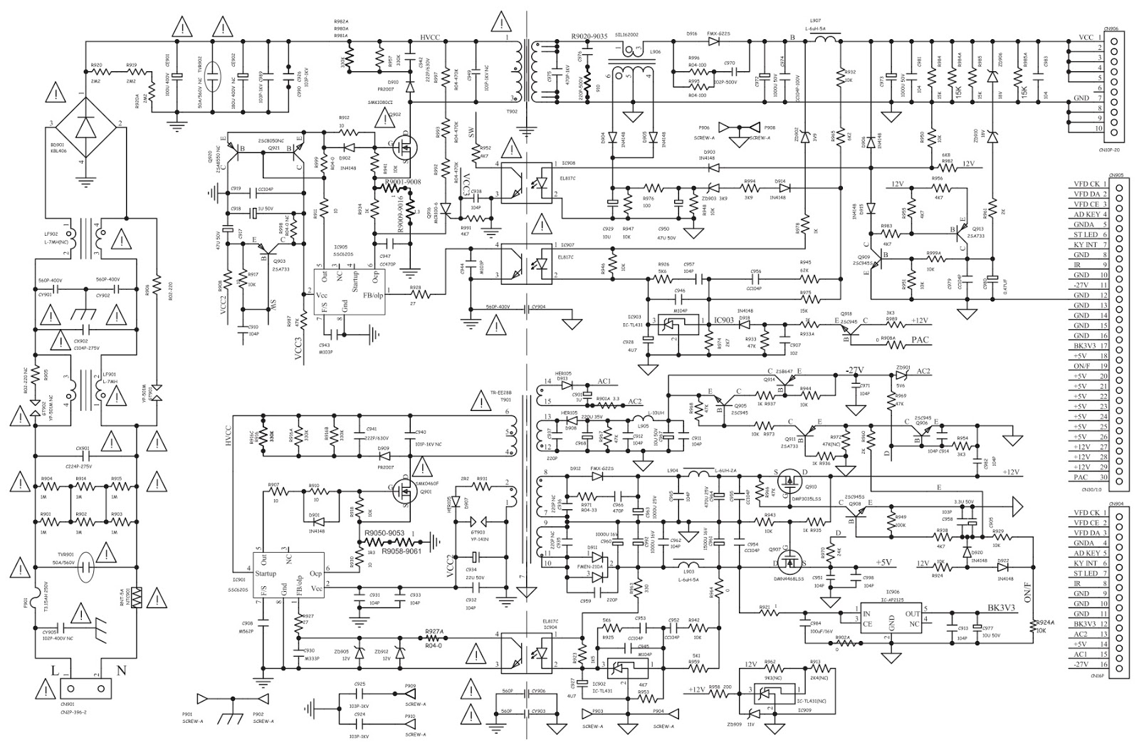 Electro Help  Philips Hts3551 Bd Home Theater System  U2013 Smps Circuit Diagram  U2013 Adjustments