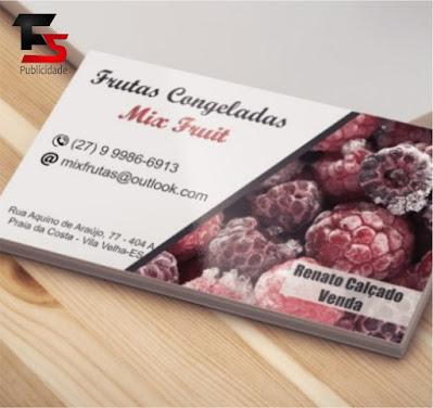 Cartão de Visita Frutas Congeladas