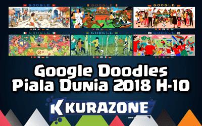 Google Doodles - Piala Dunia 2018 H-10